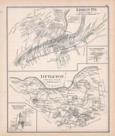 Lisbon Town, Littletown, Willowdale, Pattenville, New Hampshire State Atlas 1892 Uncolored